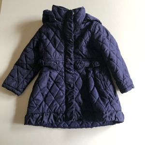 Long Quilted Jacket with Hood Size 2T